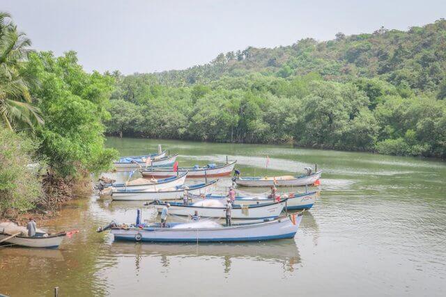 Goa Indien Fischerboote