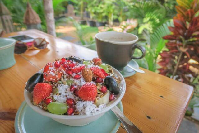 Goa Indien Palolem Zest Cafe Frühstück