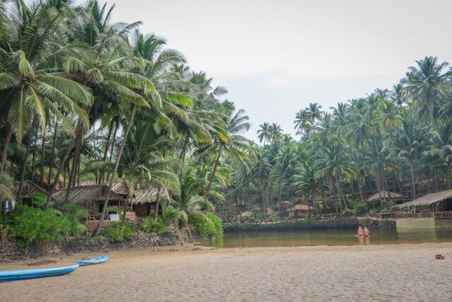 Goa Indien Cola Beach Lagune