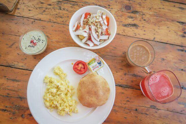 Goa Indien Anahata Retreat Frühstück
