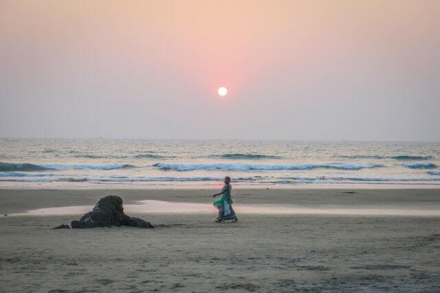 Goa Indien Sonnenuntergang