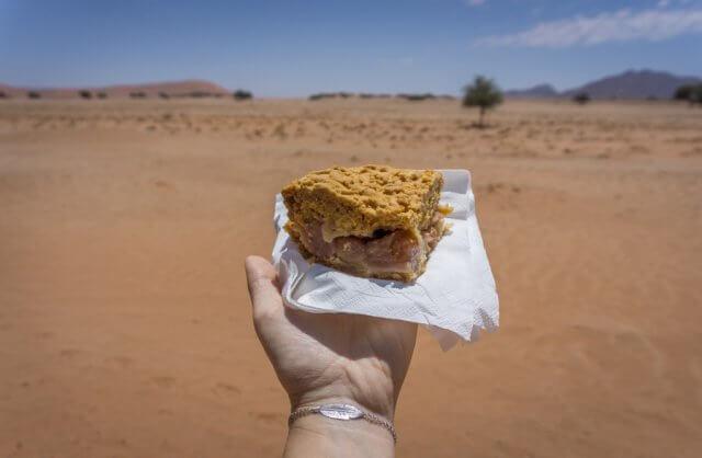 Namibia Rundreise Solitaire Apfelkuchen