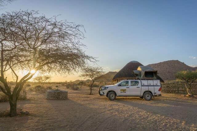 Namibia Rundreise Solitaire Desert Farm Camping