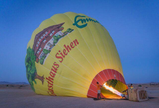 Namibia Rundreise Solitaire Heißluftballon