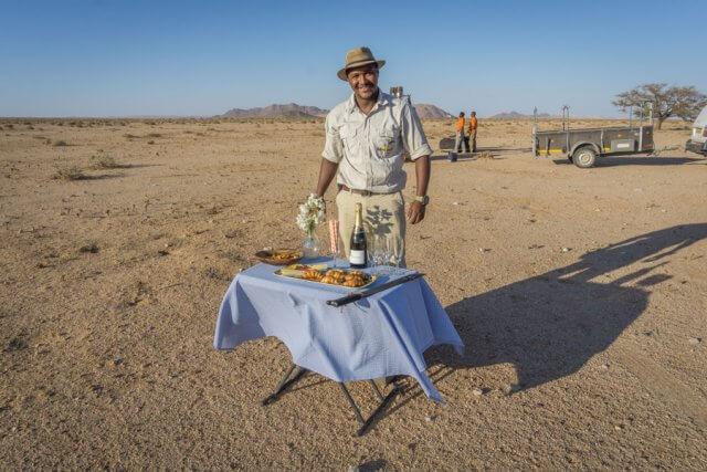 Namibia Rundreise Solitaire Heißluftballon Samawati