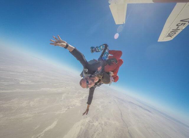 Namibia Rundreise Swakopmund Skydive