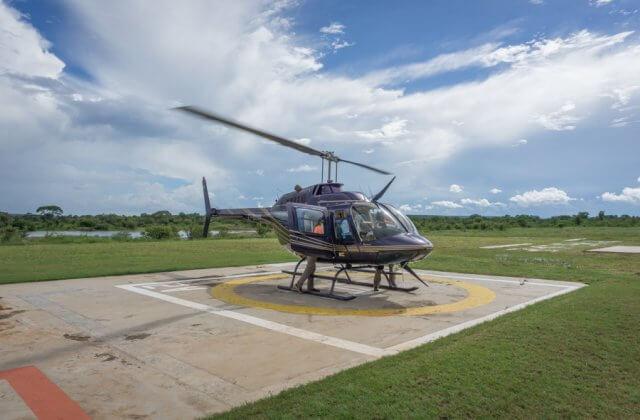 Viktoriafaelle Simbabwe Helikopter Flug