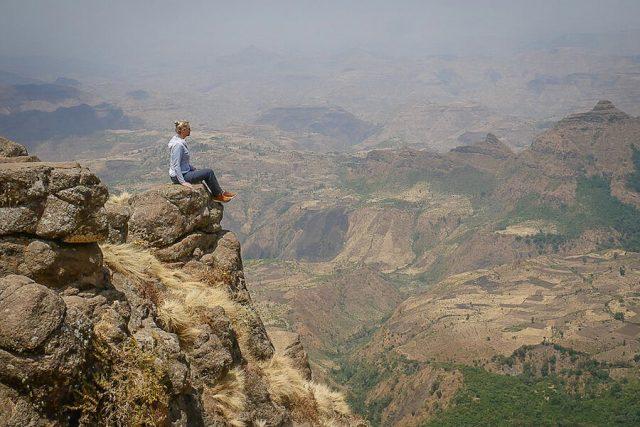 Aethiopien Reisen Simien Mountains Wandern Aussicht