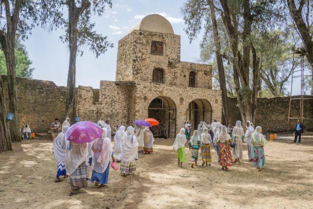 Aethiopien Reisen Debre Berhan Selassie Kirche ZeremonieAethiopien Reisen Debre Berhan Selassie Kirche Zeremonie