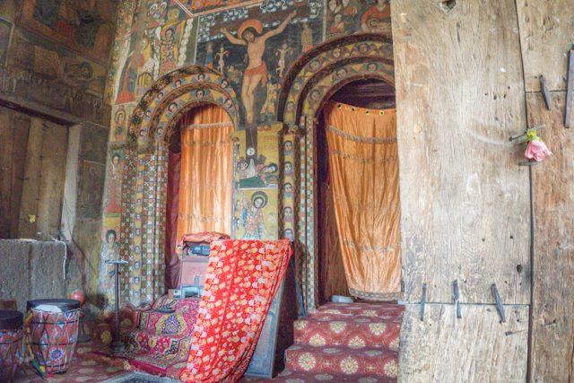 Aethiopien Reisen Debre Berhan Selassie Kirche innen