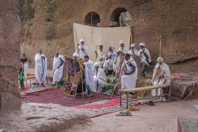 Aethiopien Reisen Felsenkirchen Lalibela Zeremonie