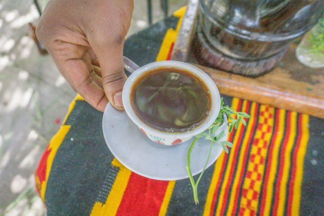 Aethiopien Reisen Kaffeezeremonie Taitu Hotel Addis Abeba Kaffee