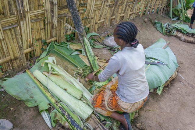 Aethiopien Reisen Dorze Stamm Dorf typische Häuser Brot
