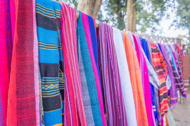 Aethiopien Reisen Dorze Stamm Dorf typische Häuser Schals