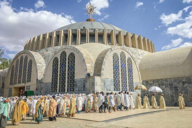 Aethiopien Reisen Axum St Mary Prozession