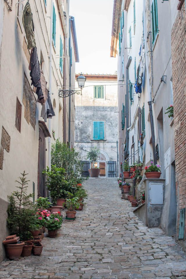 Toskana Italien Pomarance Innenstadt