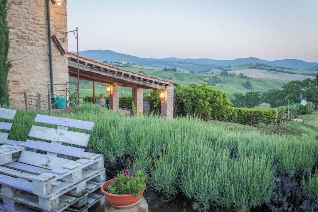 Toskana Italien Pomarance Agriturismo I tres Archi