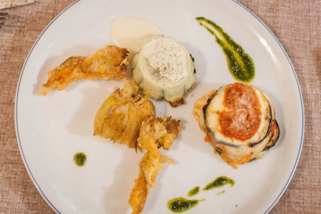 Toskana Italien Pomarance Agriturismo I tres Archi Restaurant Essen
