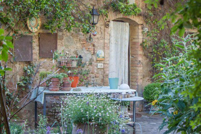 Toskana Italien Pomarance Montegemoli Garten