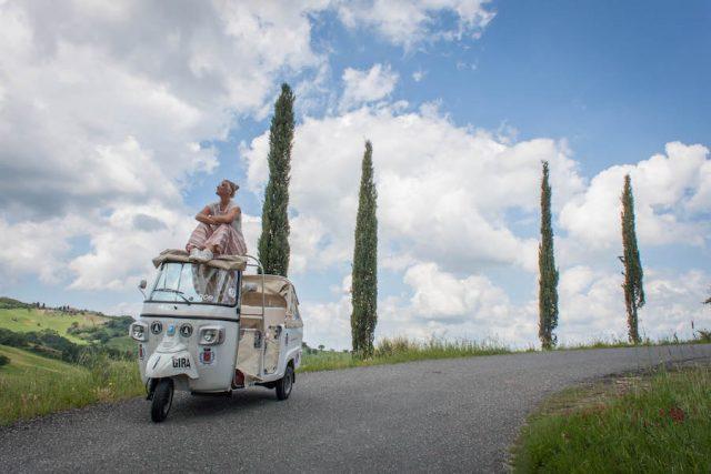 Toskana Italien Pomarance Tuktuk Rundfahrt