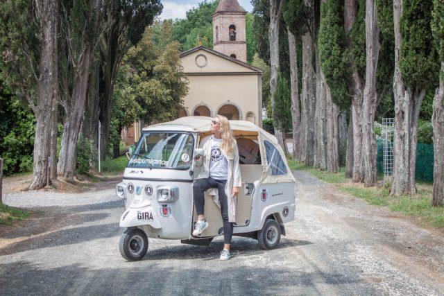 Toskana Italien Pomarance Tuktuk The Gira