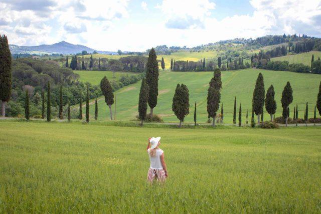 Toskana Italien Pomarance Landschaft