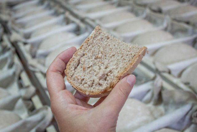 Toskana Italien Pomarance Montegemoli Bäckerei Brot