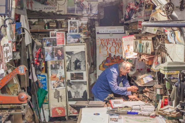 Toskana Italien Pomarance Volterra Handwerker