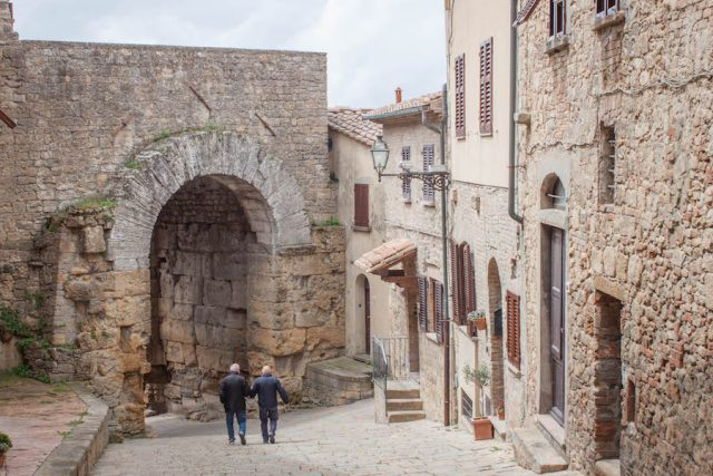 Toskana Italien Pomarance Volterra Arco Etrusker