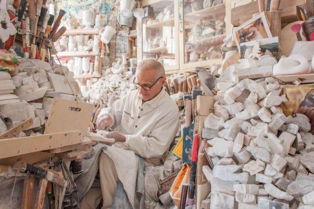 Toskana Italien Pomarance Volterra Alabaster Künstler