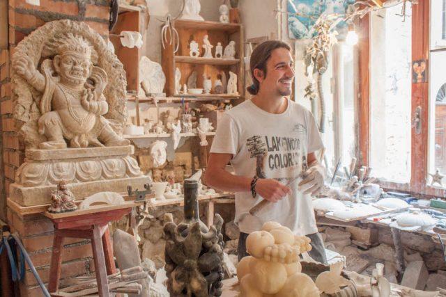 Toskana Italien Pomarance Volterra Alabaster Kunst