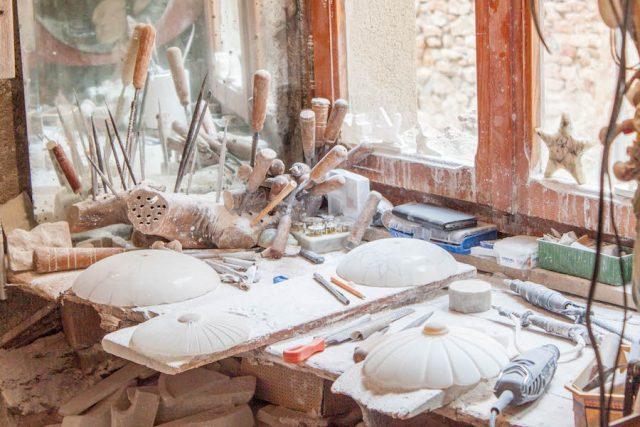 Toskana Italien Pomarance Volterra Alabaster