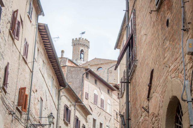 Toskana Italien Pomarance Volterra Innenstadt