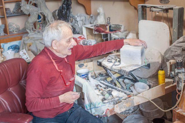Toskana Italien Pomarance Volterra Alabaster Künstler ältester