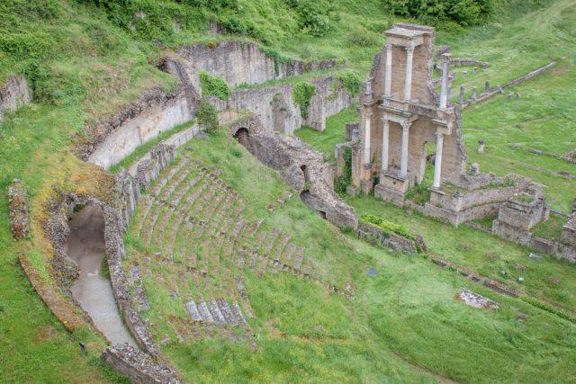 Toskana Italien Pomarance Volterra Amphitheater