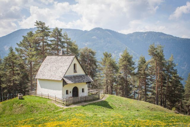 Wellnesshotel Suedtirol_Dolomiten Wandern_Urlaub Suedtirol Cyprianerhof Wanderung Tschafon Panorama