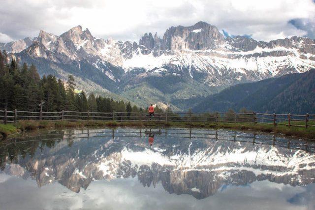 Wellnesshotel Suedtirol_Dolomiten Wandern_Urlaub Suedtirol Cyprianerhof Wanderung Tschafon Wuhnleger Spiegelungen