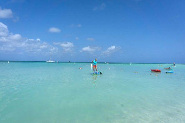 Aruba Urlaub ABC Inseln Palm Beach SUP