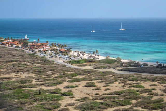 Aruba Urlaub ABC Inseln California Lighthouse Aussicht