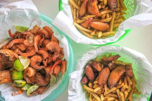 Aruba Urlaub ABC Inseln Zeerovers Fisch Shrimps