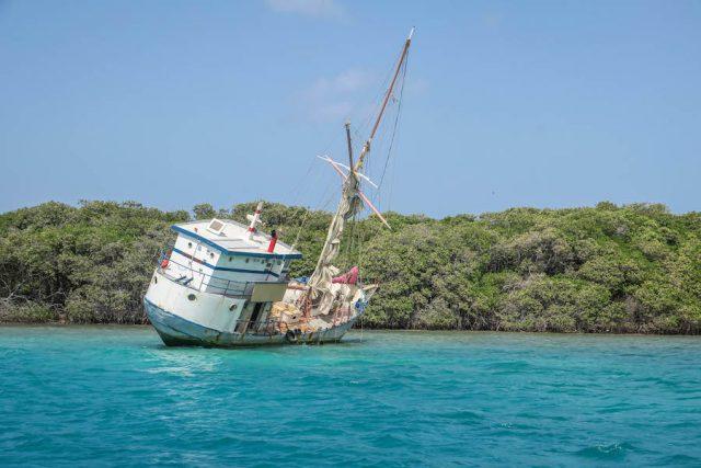Aruba Urlaub ABC Inseln Segeln Schiffswrack