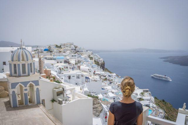 Geheimtipps Santorini Urlaub Kykladeninsel Aussicht Fira