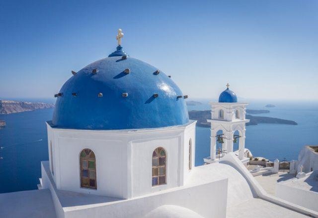 Geheimtipps Santorini Urlaub Kykladeninsel Kirche Oia