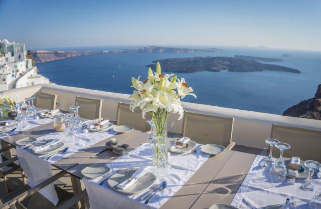 Geheimtipps Santorini Urlaub Kykladeninsel Wein Dinner