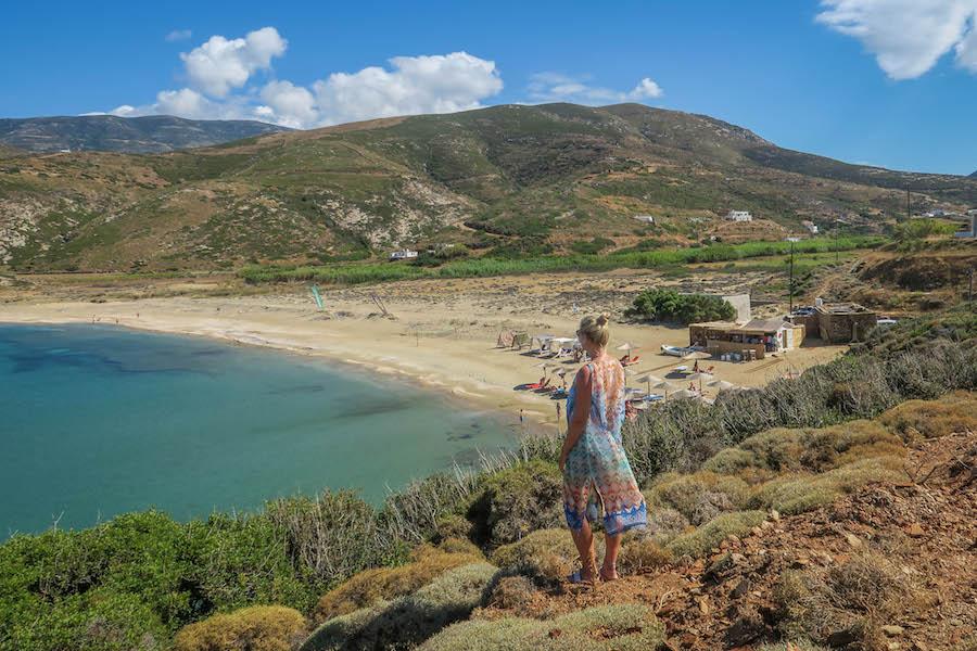 Andros griechische Inseln Kykladen Strand Urlaub in Griechenland