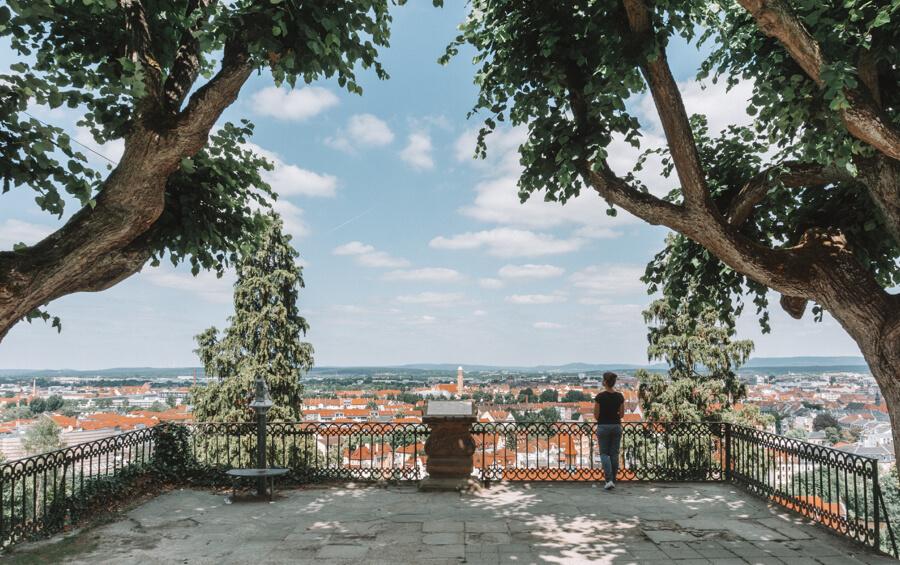 Bamberg Sehenswuerdigkeiten Ausblick Michaelsberg