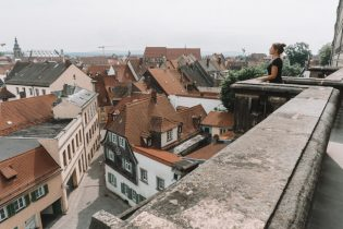 Bamberg Sehenswuerdigkeiten Rosengarten Aussicht