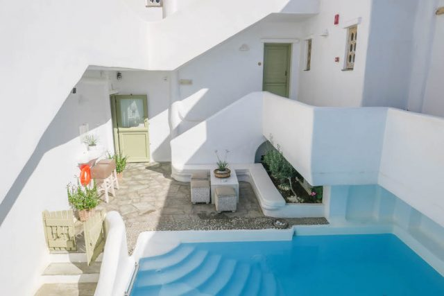 Kykladeninseln Tinos Altana Boutique Hotel Pool