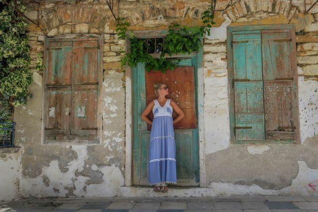 Kykladeninseln Tinos Pyrgos altes Haus