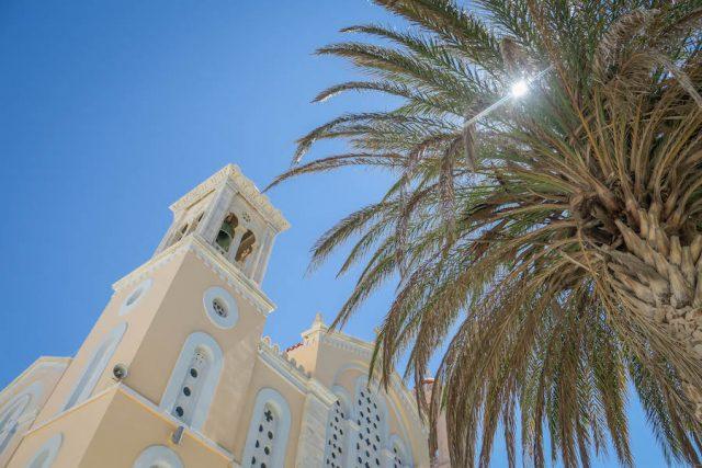 Kykladeninseln Tinos Pyrgos Kirche